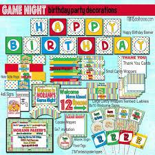 Game Night Birthday Party Invitations Best 25 Decorations Ideas On Pinterest Diy Vegas Free