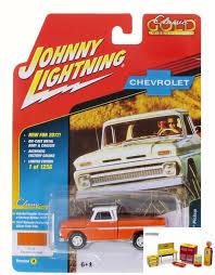 100 Orange Truck Shop Diecast Car Tools Package 1965 Chevy Pickup In