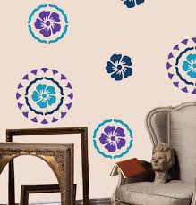 Decorative Wall Painting Patterns Reusable Flower By DecorZe 2900