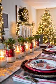 Christmas Table Settings Centerpieces Mason Jars