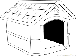 Dog House Coloring Page 12 Nice Looking 78980 Home For