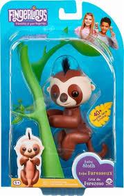 WowWee Fingerlings Baby Sloth Kingsley Brown 3751