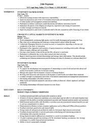 Personal Banker Resume Com Investment Examples Banking Executive Template Wso S