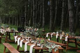AndienIppe Wedding Reception At Pine Forest Lembang Indonesia Just Lavender Ranunculus Eucalyptus And