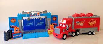 MEGA BLOKS DISNEY Pixar CARS Mack Truck & Dinoco Lightning McQueen ...