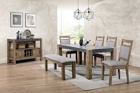 Roundhill Furniture D725 6PC S725 Costabella Dining Collection 7 PC Set Table With