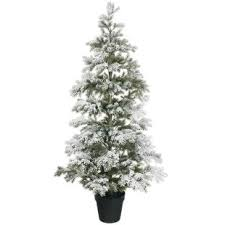 Flocked 48 White Green Pine Artificial Christmas Tree With Stand
