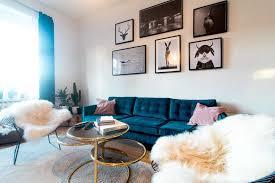24 ohne mängel wohnzimmer petrol 44 velvet sofa living