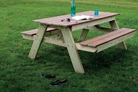 build a picnic table popular mechanics