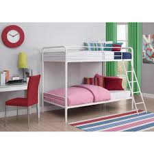 Twin Over Twin Bunk Beds With Trundle by Dhp Twin Over Twin Metal Bunk Bed 3135096 The Home Depot
