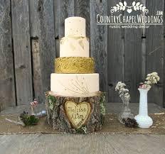 Personalized Rustic Log Cake Stand Elm Wood Wedding Barn Stump Summer