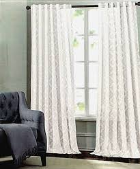 Tommy Hilfiger Curtains Special Chevron by Tahari Metallic Silver Damask Medallions Window Panels Drapes Set
