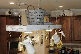 crate pot rack led lighting white milk and pan holder kitchen