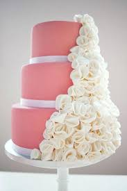 Wedding Cake Boards Pink And White Image Via Dowels
