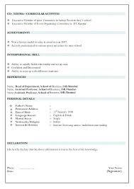 Fresher Teacher Resume Sample Download Resumes Samples Format Examples For R