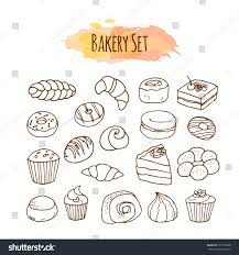 Bakery Elements Pastry Illustration Stock Illustration Shutterstock