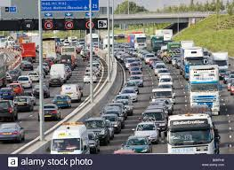 100 Directions For Trucks Traffic Congestion Cars And Trucks Travelling In Both Directions On