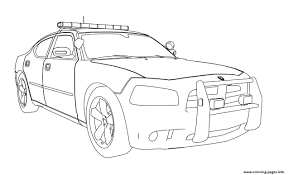 Dodge Charger Car Coloring Pages