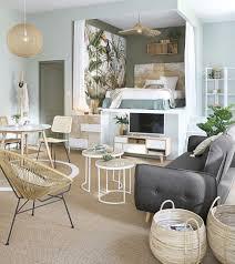 tv möbel im skandinavischen stil mit 4 schubladen aus weißem paulownienholz maisons du monde