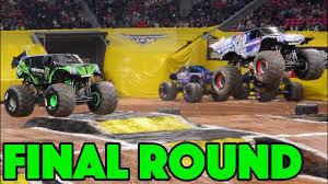 100 Monster Trucks Atlanta Jam Racing Finals Sunday Show 2019 YouTube