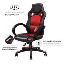 Giantex Modern Office Chair Racing High Back Gaming Chair Ergonomic ... Rseat Gaming Seats Cockpits And Motion Simulators For Pc Ps4 Xbox Pit Stop Fniture Racing Style Chair Reviews Wayfair Shop Respawn110 Recling Ergonomic Hot Sell Comfortable Swivel Chairs Fashionable Recline Vertagear Series Sline Sl2000 Review Legit Pc Gaming Chair Dxracer Rv131 Red Play Distribution The Problem With Youtube Essentials Collection Highback Bonded Leather Ewin Computer Custom Mercury White Zenox Galleon Homall Office
