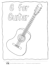 Guitar Coloring Pages Acoustic