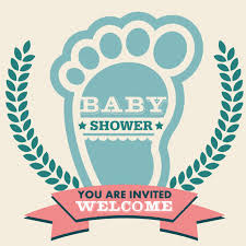 Baby Shower Logo items similar to baby shower invitation logo design vintage