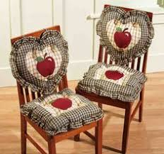 4 Pc Country Plaid Check Red Apple Heart Square Kitchen Chair Cushions Pad Decor In Home Garden Yard Outdoor Living Patio Furniture
