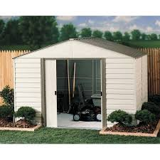 Plastic Storage Sheds Walmart by Arrow Sheds Vm1012 Outdoor Storage Shed 115 Cu Ft Almond
