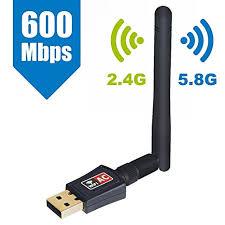 ordinateur de bureau en wifi maxesla clé wifi à haute vitesse 2 4 5 ghz 600 mbps