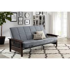 Mainstays Sofa Sleeper Weight Limit by Amazon Com Neo Mission Wood Arm Futon Espresso With Grey