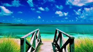 Sky Summer Yellow Caribbean Antigua Sea Beach Green Beautiful Path Walkway Ocean Sand Grass White Blue