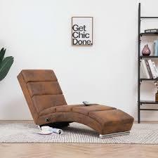 festnight relaxliege liegesessel lounge liege chaiselongue wohnzimmer liegestuhl relaxsessel in wildleder optik grau