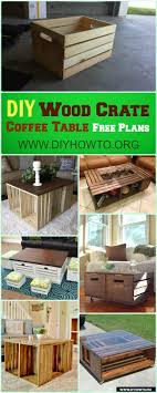 How To Make Wood Crate Build Up Different Coffee Table Designs With 2 Crates
