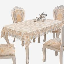 Adasmile Embroidered Tablecloth Square Crochet Lace Table Covers Doilies  For Furniture 36