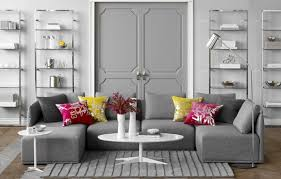 gray living room set and home accessories living room