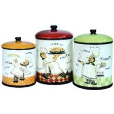 Fat Italian Chef Kitchen Theme by Fat Italian Chef Home Decor Kitchen Canister Set French Canisters