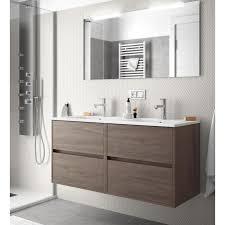 badmöbel set badezimmer möbel schrank wand hängen 120 cm farbe eiche mit waschtisch und spiegel
