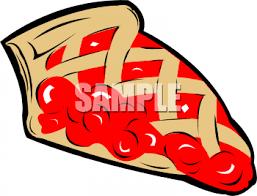 A Slice Cherry Pie Clipart Image