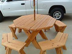 picnic table plans octagon picnic table free and easy diy
