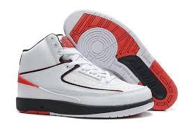 Best Discount Mens Air Jordan 2 II Retro Nike Basketball Shoes White Black Sale In UK