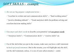 Communications Skills Resume Soft Strong Communication Examples