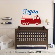 100 Fire Truck Wall Decals Amazoncom Zixinruies Decal Personalized Childs