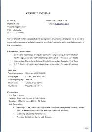 Resumes Samples For Jobs Pleasant Resume Sample Job Application Download About