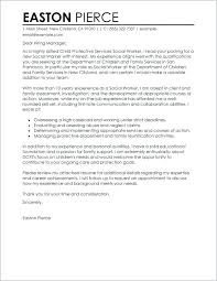 Cover Letter Social Worker Examples Of Letters For Work Resumes