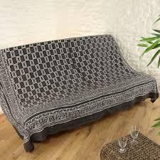 drap canapé jeté de canapé noir et blanc dessus de chaise jeté de canapé