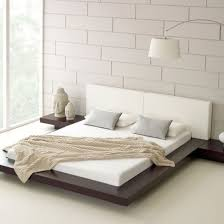 Bedroom Furniture Design With Pleasant Low Bed Sets Also Chic Brick Wall Ideas Delectable And Astounding