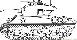 M4 Sherman Army Tank Coloring Page