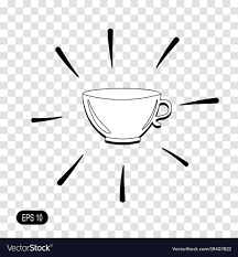 Tea Cup Icon Isolated On Transparent Background Vector Image