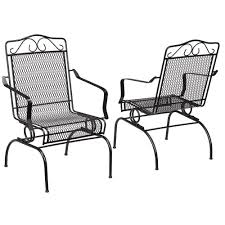 Metal Outdoor Dining Chairs Set 2-Pack Rocking Seat Patio Furniture ... Hanover Outdoor Orleans 5piece Porch Rocker Set With Cherry Red Retro Patio 3 Pc Metal Rocking Chair Tortuga Portside Plantation Dark Roast 3piece Wicker White Plastic Chairs Cr Generation The Classic All Weather Bayview Magnolia Art Epicenters Austin Paint Darrow Polywood Jefferson Pwrockerset3 Fniture 3pc Lazboy Avery Piece Bistro In Blue Kmart